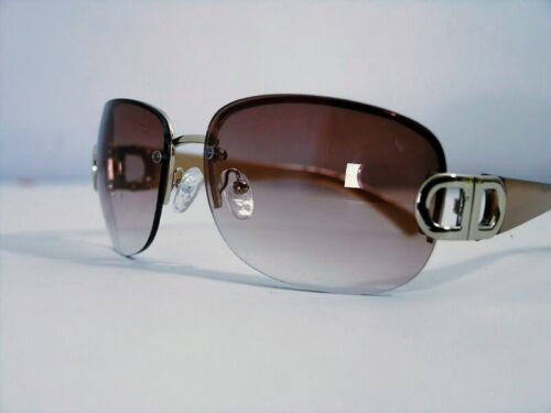 """ANGLO woman sunglasses Retro' Vintage Style """"Wraparound"""" Pink gold Details NEW"""