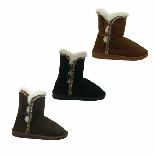 Ladies Slippers Sissi Winter Boot Faux Fur Lined Slipper Pull On Warm Size 37-42