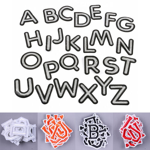26pc Set Alphabet English Letters Patch Iron On Embroidery Applique Sewing Diy