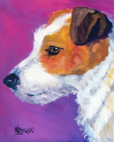 Jack Russell Terrier Art Print from Painting | Gifts, Portrait, Mom, Dad 8x10