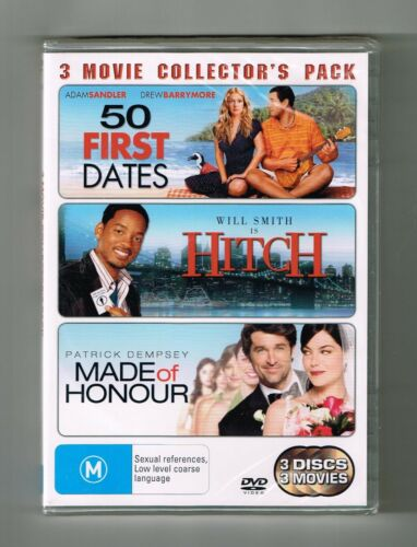 50 First Dates / Hitch / Made Of Honour Dvd 3-Movie Collection Brand New &Sealed