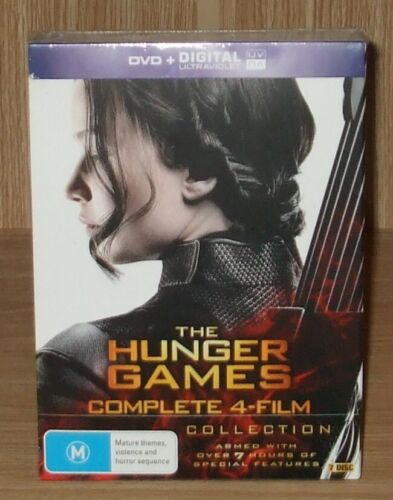 The Hunger Games Complete 4-Film Collection Dvd 7-Disc Boxset Brand New & Sealed