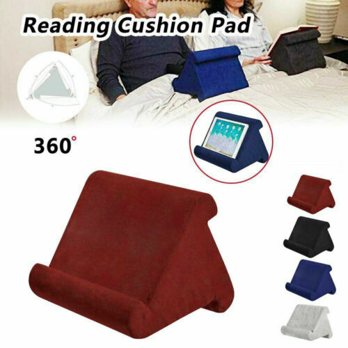 Tablet Pillow Stand For iPad Book Phone Reading Bracket Holder Cushion Pad O9N1