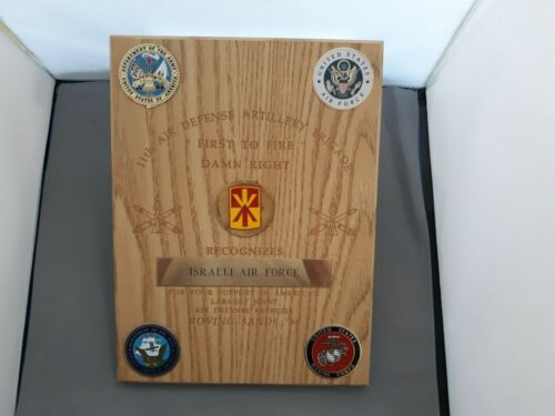 11th ADA Brigade PLAQUE to Israeli AF for Support of Roving Sands '94 @ Ft BlissOther Militaria - 135