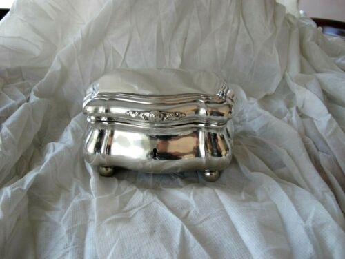 Antique German Gilded silver 12 Lote Tea Caddy  Etrog Box Baroque 343 grams 1860