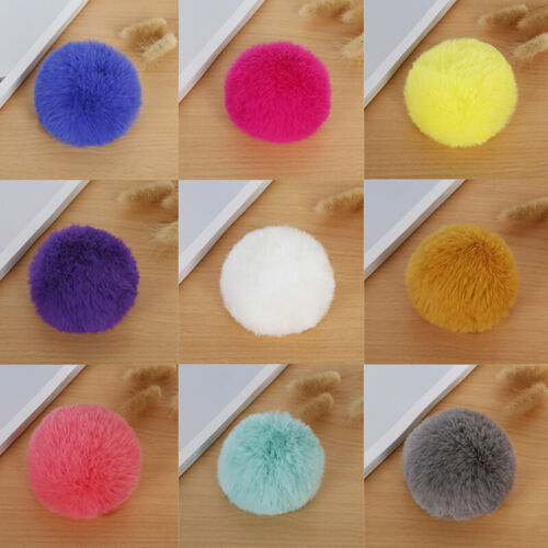 Diy 8cm Faux Rabbit Fur Pom Pom Ball For Beanie Hat Accessories
