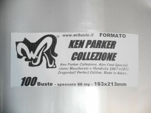 """100 BUSTE WR """"KEN PARKER COLLEZIONE"""" 163x213 mm x Alan Ford speciali DragonBall"""