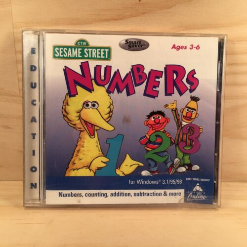 SESAME STREET NUMBERS Kids Educational Computer PC Program Video Game (1998)