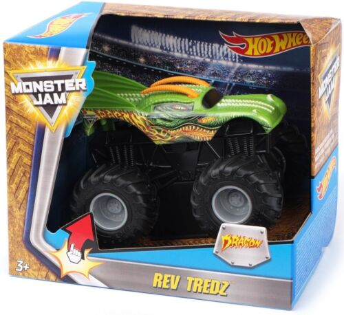 HOT WHEELS - MONSTER JAM GEANT : DRAGON 11X9cm (LxH) - VOITURE VERTE
