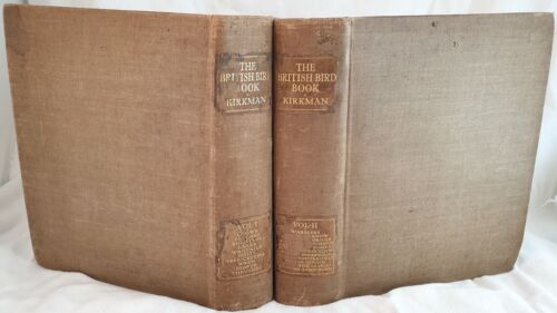 KIRKMAN OXON THE BRITISH BIRD BOOK 1911 ORNITOLOGIA INGLESE UCCELLI BIRDS ILLS