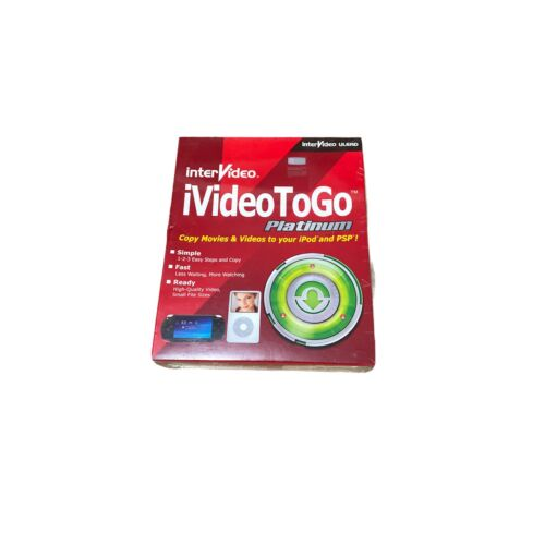 InterVideo iVideo ToGo Platinum ULEAD In Box Copy Movie Video to iPod PSP Sealed