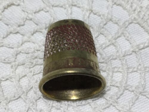 Brass Open Top Tailor's Thimble-Industry-Advertising-Sewing-Crafts         *2749