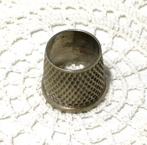 Nickel Silver Open Top Tailor's Thimble-Size 10-Sewing.                 *2761