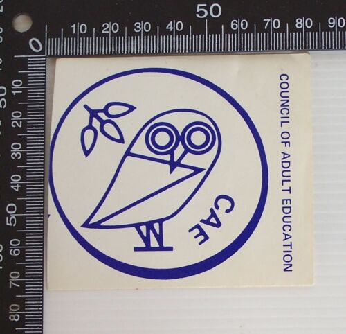 VINTAGE CAE COUNCIL OF ADULT EDUCATION AUSTRALIA ADVERTISING PROMO STICKER