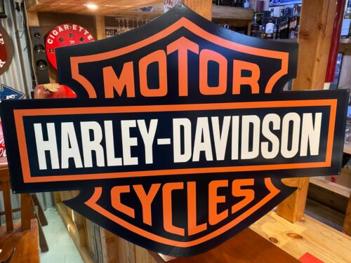 HARLEY DAVIDSON LARGE NON DISTRESSED SIGN LOGO SHIELD HEAVY DUTY DIE CUT