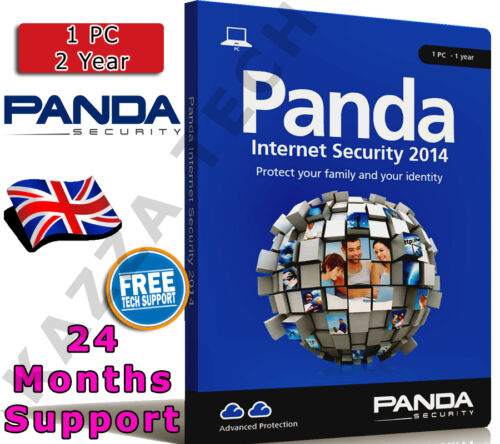 PANDA INTERNET SECURITY 2014 1 PC USER 2 YEAR! Activation License Key AntiVirus