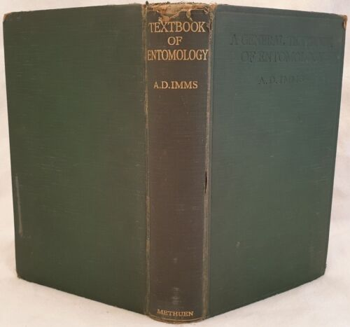 IMMS A GENERAL TEXTBOOK OF ENTOMOLOGY ENTOMOLOGIA INSETTI INSECTS 1930