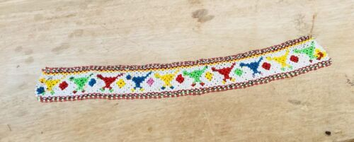 Vintage Hand Made Beads Fine Indian Tribal Lady Art Work Table Runner