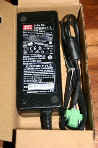 Mean Well AC/DC Switching Adaptor 12v 3.34A 40W GST40A12-P1J