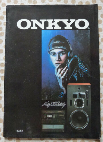 Catalogue ONKYO HIGH FIDELITY de 1982/83