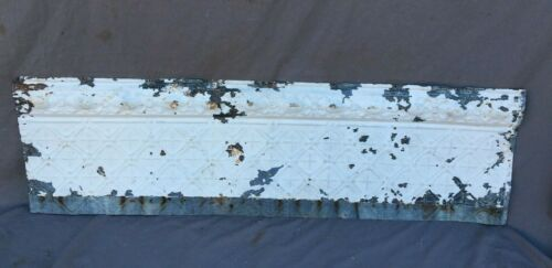 4 Feet Antique Tin Ceiling Boarder Trim Cove White Old Architectural 1157-20B