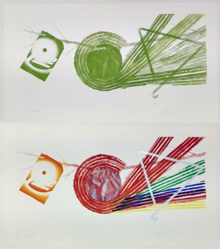 """JAMES ROSENQUIST """"SPOKES AND SPOKES: 2 STATE""""   SIGNED PRINTS   MATCHING EDITION"""