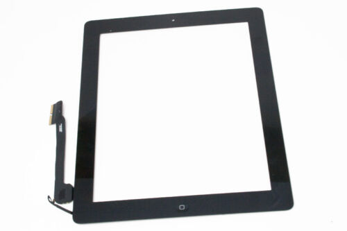 for iPad 3, 4 Digitizer Black Complete with adhesive and home button