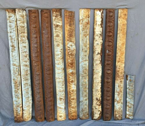 Lot of Antique Tin Ceiling Boarder Trim Old Egg & Dart Architectural 1201-20B