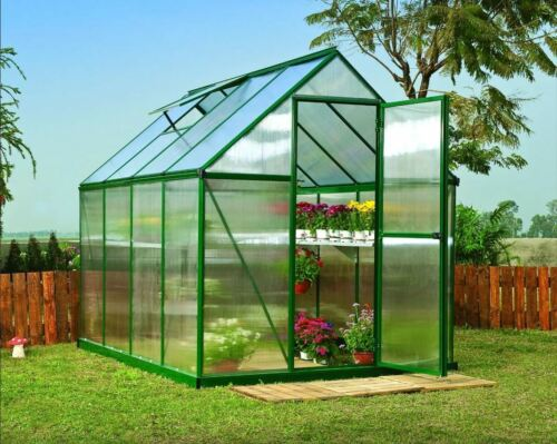 GSD  Greenhouse Aluminium Polycarbonate With Steel Base Free Delivery 3 Sizes