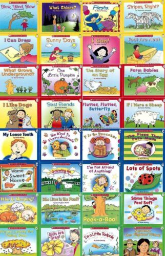 32 Book Lot SCHOLASTIC First Little Guided READERS Level A B C D Learn to Read  <br/> AWARD WINNING Set Easy Readers Grade PreK-2 Ages 4-7