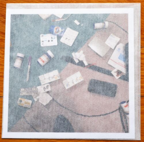 """SIGNED - NAN GOLDIN - DRUGS ON THE RUG - LIMITED 6"""" x 6"""" APERTURE PRINT"""