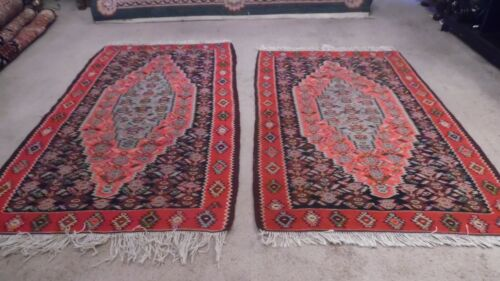 A pair of  Fine Wool Hand knotted  kilim Rug Carpet