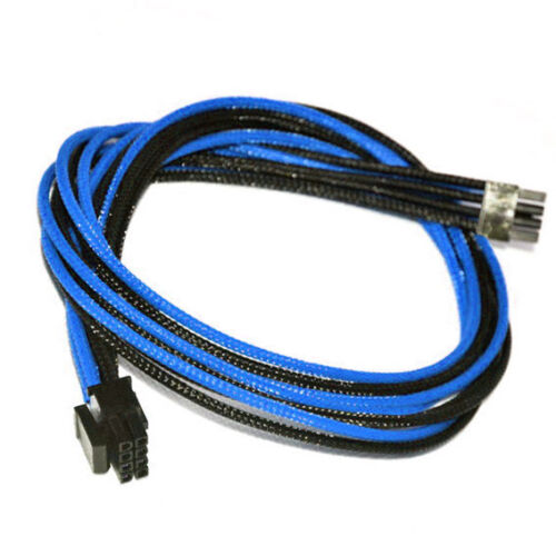 8pin CPU DarkBlue Black Sleeved Power Supply Cable EVGA E-Series G3 / G2 / P2 T2