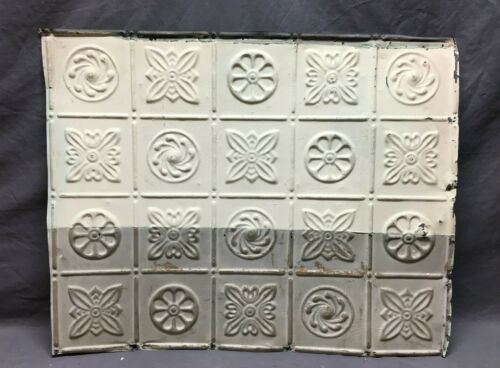 """ONE Antique Embossed Decorative Tin Metal Ceiling 25""""x 31"""" Shabby Chic 36-21B"""