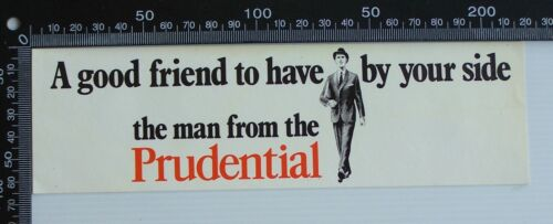 VINTAGE THE MAN FROM THE PRUDENTIAL PRU PLC ADVERTISING VINYL PROMO STICKER