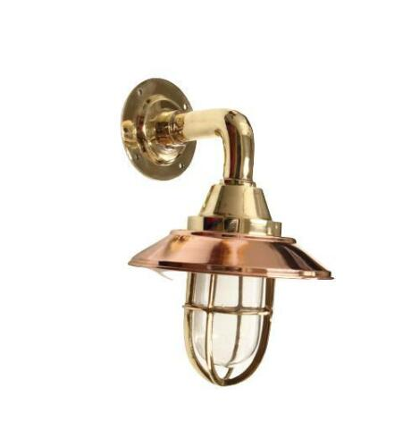 Marince Ship Solid Brass with Copper Deflector Cover Decorative Ship Light