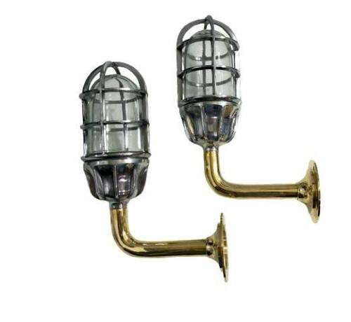 Marine Nautical Swan Neck Solid Aluminum Wall Light with Brass Pipe 2 Pieces