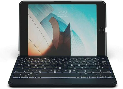 ZAGG Folio Bluetooth Tablet Keyboard Backlit With 7 Colors For Apple iPad Mini 5