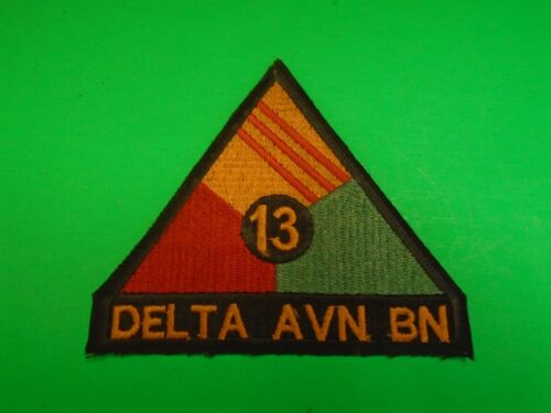 US Army 13th DELTA AVIATION BATTALION Machine Embroidered PatchPatches - 104015