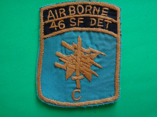 Hand Sewn Patch US 46th Special Forces Company AIRBORNE Detachment C Patches - 104015