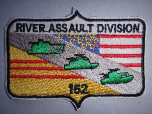 US Navy RIVER ASSAULT DIVISION 152 Machine Embroidered PatchPatches - 104015
