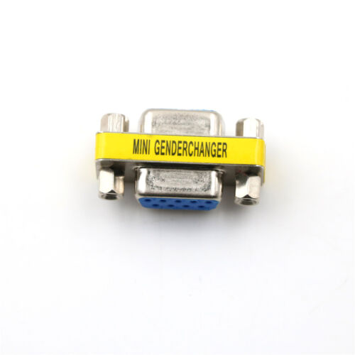 Serial RS-232 DB9 9 Pin Female to Female F/F Gender Changer Coupler Adapte*d WH