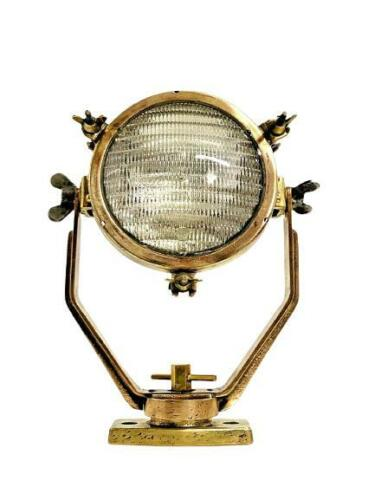 Antique Natical Maritime Mini Boat Ship Brass PopUp Spot Light with Stand