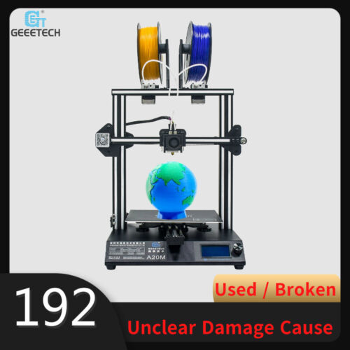 Used/Broken A20M 3D Printer Geeetech Mix-color 3D Printer 2 in 1 out from US