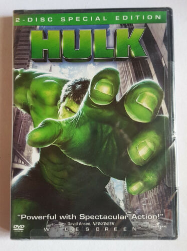 SEALED Hulk Movie (DVD, 2003, 2-Disc, NTSC) Special Edition XBOX-Compatible GAME