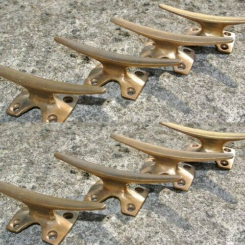 8 small CLEAT tie down heavy 100%brass boat cars tieing rope hooks cleat hook B