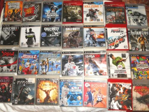 Sony Playstation PS3 Video Games.... Tested and Works......