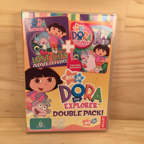 DORA THE EXPLORER -DOUBLE PACK Awesome Kids Adventure Computer PC Video Game
