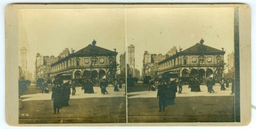 B5891~ New York NY -Busy Herald Square in 1915? Stereoview – Excellent 3D