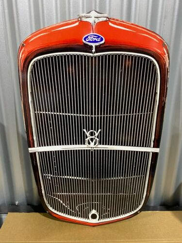 FORD 32 COUPE GRILLE METAL SIGN PERFECT BAR MAN CAVE HOT ROD